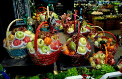 Bangkok, Thailand: Holiday Fruit Gift Baskets Stock Photos