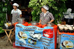 Bangkok, Thailand: Ice Cream Vendors Royalty Free Stock Photo