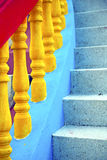 Bangkok in thailand incision of stairs Royalty Free Stock Photos