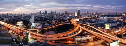 Bangkok, Thailand - Jan 16, 2016 : Bangkok skyline with city stock image
