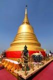 Bangkok, Thailand, Jan03, 2014 :Golden pagoda at the golden mount of Thailand (Wat Saket temple) Royalty Free Stock Images