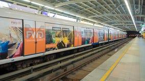 Bangkok, Thailand - jan 22, 2018: metro subway station in Silom stock photo