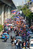 Bangkok, Thailand - 20. Januar 2014: Thailändische regierungsfeindliche Protestierender Stockfotografie