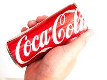Bangkok, Thailand 27/2017 Januari ca van Coca-Cola van de Handgreep klassieke Royalty-vrije Stock Afbeelding