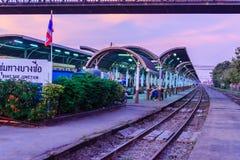 BANGKOK THAILAND - Januari 28, 2017: Härligt av Bangsue Junc royaltyfri fotografi
