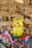 Bangkok, Thailand 10, Januari 2016: Pikachuballon in Pokemon F Royalty-vrije Stock Afbeeldingen