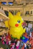 Bangkok, Thailand 10, Januari 2016: Pikachuballon in Pokemon-Festival in Siam Paragon Stock Afbeeldingen