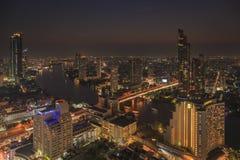 BANGKOK, THAILAND - 20 JANUARI 2018: Stads scape mening van lebua bij de Toren van de Staat Royalty-vrije Stock Foto