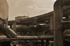 Bangkok Thailand: Januari 29, 2017 tunnelbanastationen BTS, konstruktionen av tunnelbanastationen arkivbilder