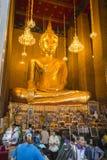 Bangkok Thailand - Januari 02, 2016: Wat Kalayanamitr har Royaltyfria Foton