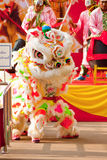 BANGKOK,/THAILAND-JANUARY 20:  lion dance dressing during parade in Chinese New Year Celebrations on January 20, 2013 Stock Photos