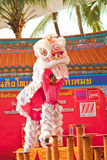 BANGKOK,/THAILAND-JANUARY 20: lion dance dressing during parade in Chinese New Year Celebrations on January 20, 2013 royalty free stock images