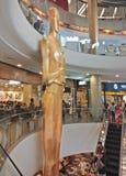 Bangkok, Thailand - January 14, 2018 : Big golden human statue,. Landmark in Terminal 21 Asok Shopping Mall stock image