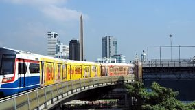 A BTS sky train at Victory Monument stock video footage