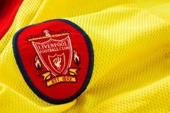 69a85bb6e482 Close-up of Liverpool FC football away jersey circa 1997 - 1999 royalty  free stock