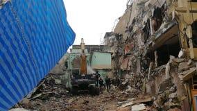 January 12, 2020: Demolish buildings, cement structures