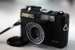 Fed 50. BANGKOK, THAILAND - JANUARY 9: A Fed 50 vintage Russian film camera on January 9, 2013 in Bangkok, Thailand. Film photography has become increasingly stock photography