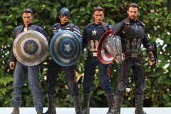 Including many versions of the captain america