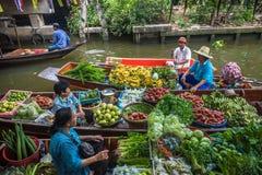 BANGKOK, THAILAND - January, 23, 2016: Khlong Lat Mayom floating Royalty Free Stock Image
