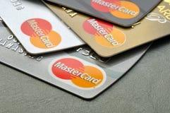 BANGKOK,THAILAND - January 28,2015:  Mastercard credit cards on Stock Photography
