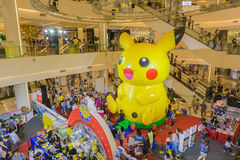 Bangkok, Thailand-  10,January 2016:Pikachu balloon in Pokemon F Stock Image