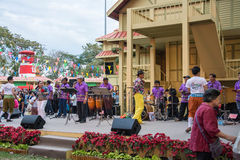 BANGKOK, THAILAND - JANUARY 16: thai tradition folk song musicians  performing on stage in Lumpini park ,Bangkok in Thailand on th Stock Photography