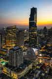 Top view of Bangkok on sunset Stock Photos
