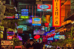Bangkok, Thailand - January 29, 2017: Tourist visited Patpong, i Stock Photos