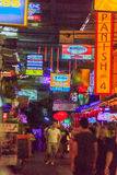 Bangkok, Thailand - January 29, 2017: Tourist visited Patpong, i Royalty Free Stock Photo