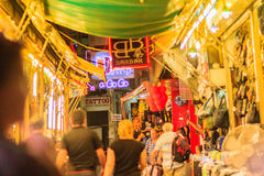 Bangkok, Thailand - January 29, 2017: Tourist visited Patpong, i. Nternationally known as a red light district at the heart of Bangkok's sex industry, Patpong Stock Photo