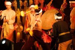 Lanna local wisdom concerning the Klong Sabad Chai Drum beat . BANGKOK THAILAND - JANUARY 27 , 2017 : Unidentified Klong Sabad Chai dance is Northern royalty free stock image