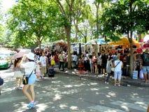 Bangkok-Thailand: JJ markt, weekendmarkt voor iedereen uit de hele wereld Royalty-vrije Stock Foto's