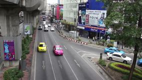 Bangkok, Thailand - Jul 2011: Bangkok Traffic near Royalty Free Stock Photo