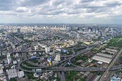 BANGKOK THAILAND - JULI 13: Bästa sikt av byggnad Bai-Yok2 det Royaltyfri Fotografi