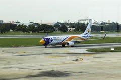 Bangkok-Thailand 3 JULI 17: Boeing 737-800 av Nokair (låg-bindsallat arkivfoto