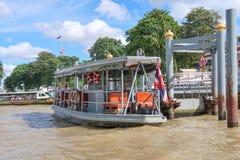BANGKOK THAILAND-7 Juli 2017, fartyg, trans.service på b Royaltyfria Bilder
