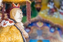 Beautiful Chinese god statue royalty free stock images
