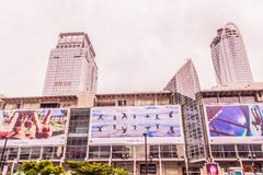 Bangkok, Thailand - July 11, 2017: Central world shopping mall at Bangkok. Bangkok, Thailand - July 11, 2017: Central world shopping mall. It is landmark in Royalty Free Stock Photography