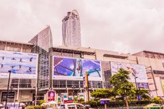 Bangkok, Thailand - July 11, 2017: Central world shopping mall at Bangkok. Bangkok, Thailand - July 11, 2017: Central world shopping mall. It is landmark in Stock Photography