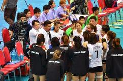 Bangkok, Thailand - July 3, 2015: Coach Radchatagriengkai, Kiattipong of Thailand in action Stock Image
