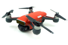 DJI Spark drone start sell in Thailand, Spark is a mini drone fr. BANGKOK , THAILAND - JULY 29 , 2017 : DJI Spark drone start sell in Thailand, Spark is a mini royalty free stock photo
