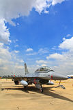 BANGKOK, THAILAND - JULY 02: F-16 of Royal Thai air force show festival Royalty Free Stock Photo
