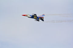 BANGKOK, THAILAND - JULY 02: F-16 of Royal Thai air force show festival Royalty Free Stock Photos