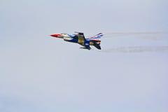 BANGKOK, THAILAND - JULY 02: F-16 of Royal Thai air force show festival Royalty Free Stock Photos
