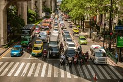Heavy traffic in Bangkok Royalty Free Stock Image