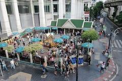 BANGKOK, THAILAND – JULY 25, 2015 – Spirit house at Thanon R Stock Image