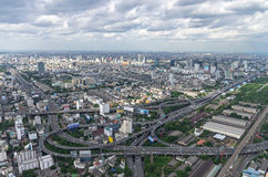 BANGKOK, THAILAND - JULY 13: Top view of Bai-Yok2 building that Royalty Free Stock Photography