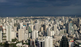 BANGKOK, THAILAND - JULY 13: Top view of Bai-Yok2 building that Royalty Free Stock Photo