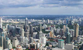 BANGKOK, THAILAND - JULY 13: Top view from Bai-Yok2 building whi Royalty Free Stock Image
