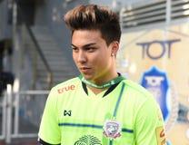 BANGKOK THAILAND-JUN 28: Fc för Charyl Chappuis spelaresuphanburi Royaltyfri Bild